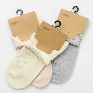 Accessories - 3 pack - Bohemian Knit Pointelle ankle socks